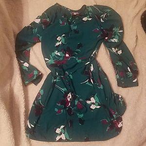Floral pattern shirt dress